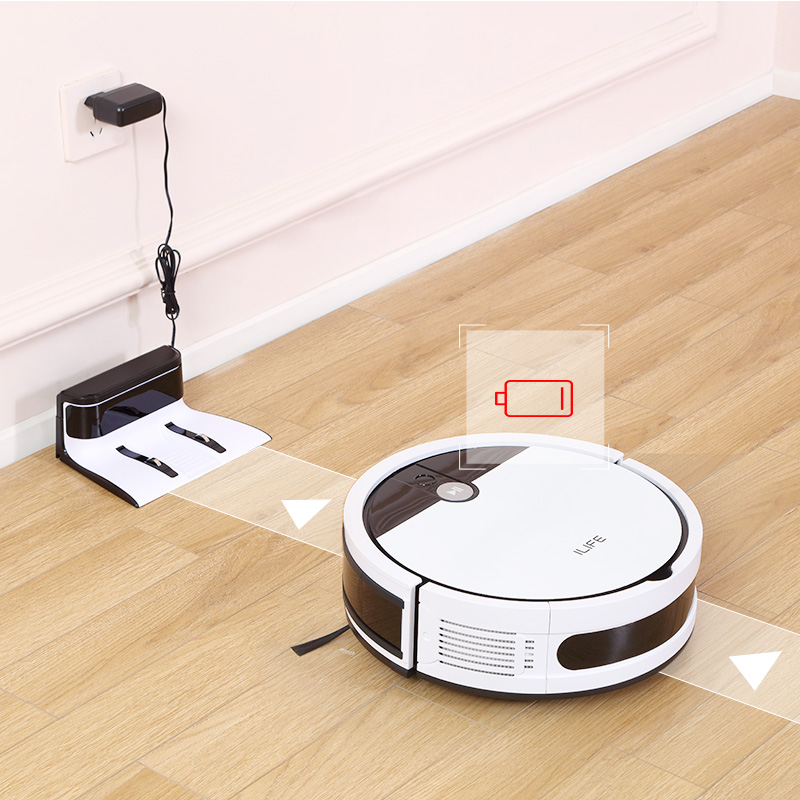 ILIFE V9e Robot Vacuum Cleaner Smart 700ML dust box WIFI App control Powerful suction 110 Minute Run Time 4