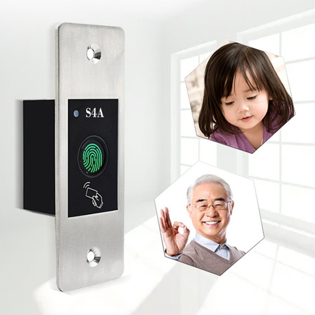 Metal IP66 Waterproof Outdoor Use Embedded Biometric Fingerprint Access Controller Standalone RFID Card Door Access Control