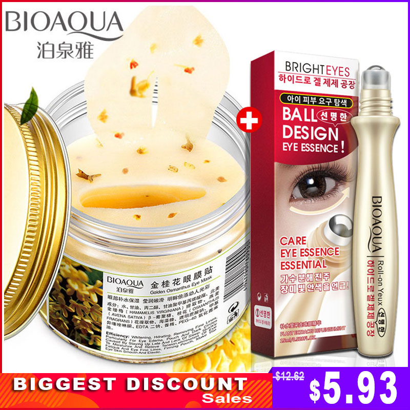 Mask Eye-Patches Remove-Dark-Circle Osmanthus Bioaqua Gold Essence-Set Puffiness Moisturizer