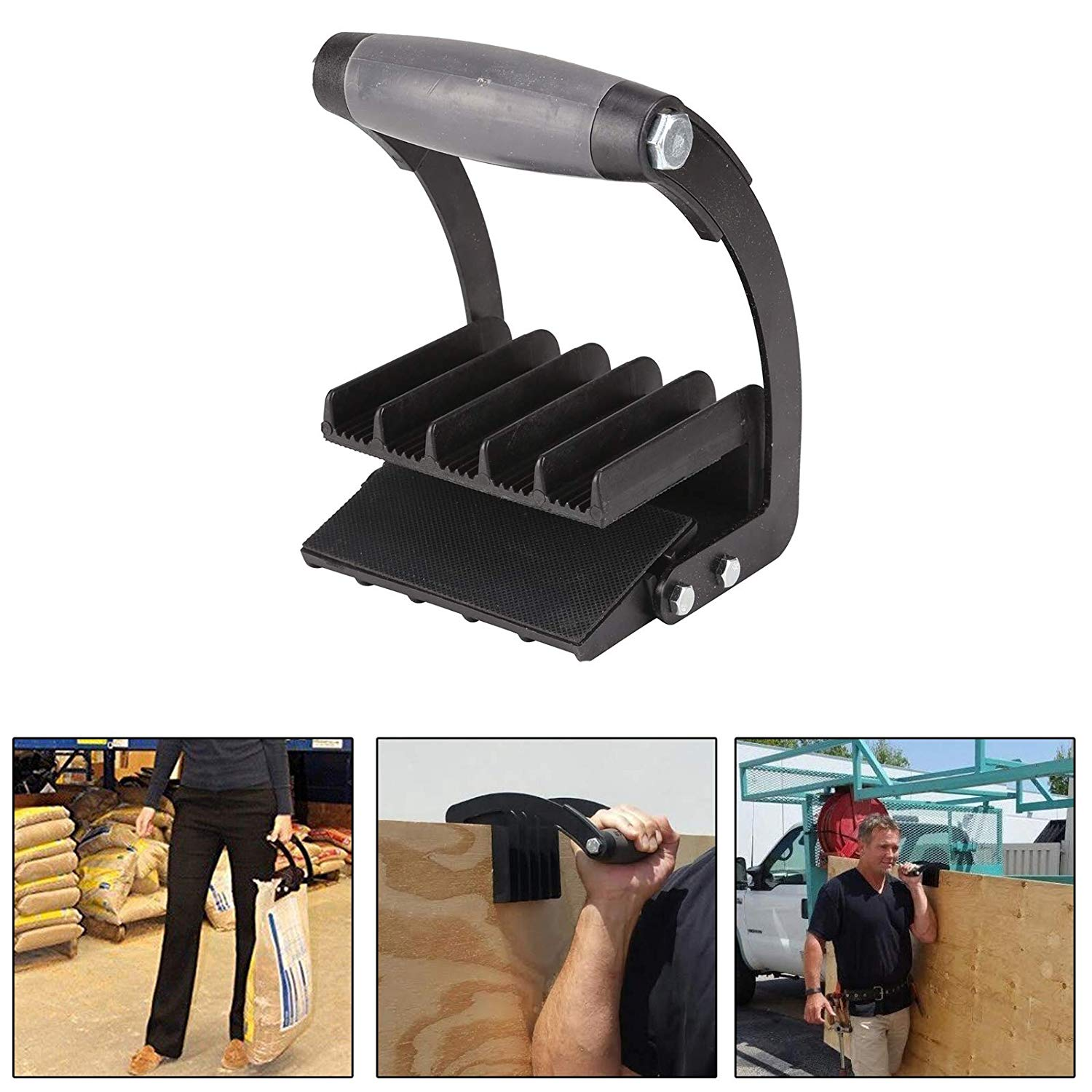 Transportation Equipment Panel Gripper Handy Board Lifter Handle For Goods In Plywood Or Sheet General Purpose Carrier Black