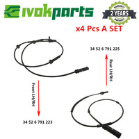 4PCS UM Conjunto Traseiro Frente Esquerda & Direita ABS Da Roda Sensor de Velocidade Para BMW F20 F21 F22 F23 F30 F31 F32 F33 F35 F80 F82 F83 F87