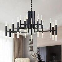 Постмодерн креативная гостиная подвесной светильник скандинавский ресторан спальня золото/черный лестница светодиодный подвесные светил