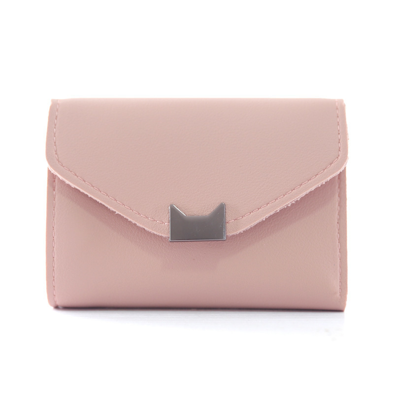 Leather Cute Cat Ears Women Wallets Small Purse Women Ladies Card Bag For Women Clutch Women Female Purse Money Clip Wallet