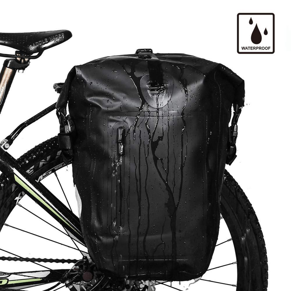 Rear pack pack full waterproof rack pack 25L single side frame pack long-distance travel cycle bag