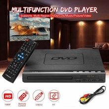 Домашний HD DVD-плеер, мультимедийный цифровой Телевизор с поддержкой USB DVD видео/DVD + CD аудио/VCD/SVCD JEPG/MP3/WMA/дисковая Система домашнего кинотеатра