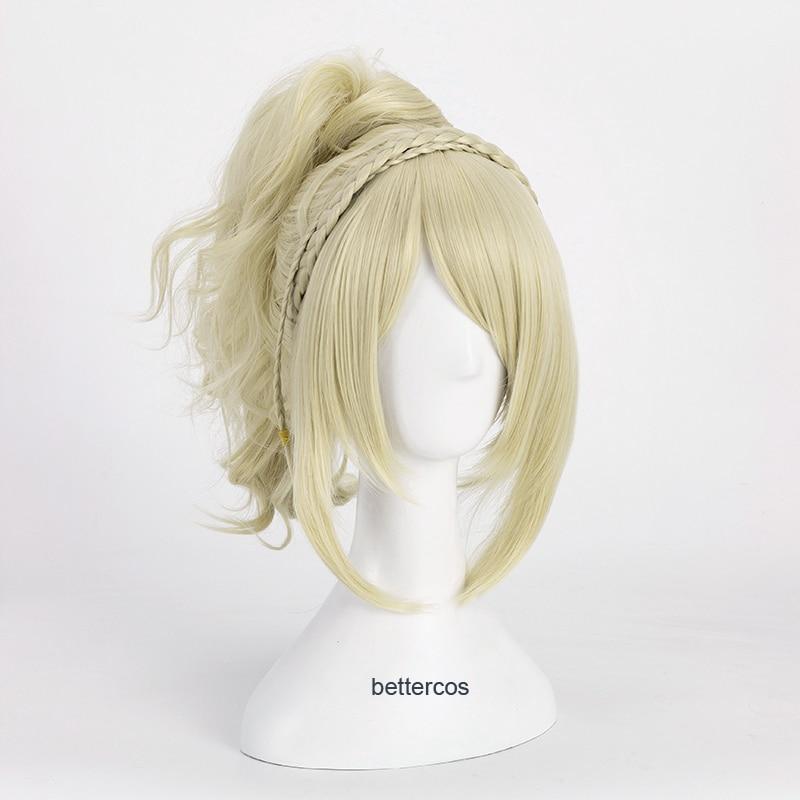 Final fantasia xv lunafreya nox fleuret princesa luna peruca cosplay loira resistente ao calor peruca de cabelo sintético + peruca boné