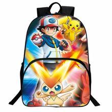 Pokemon Pikachu Anime Backpacks Team Valor Mystic Instinct Boys Girls Teenager School Bags children cartoon mochilas