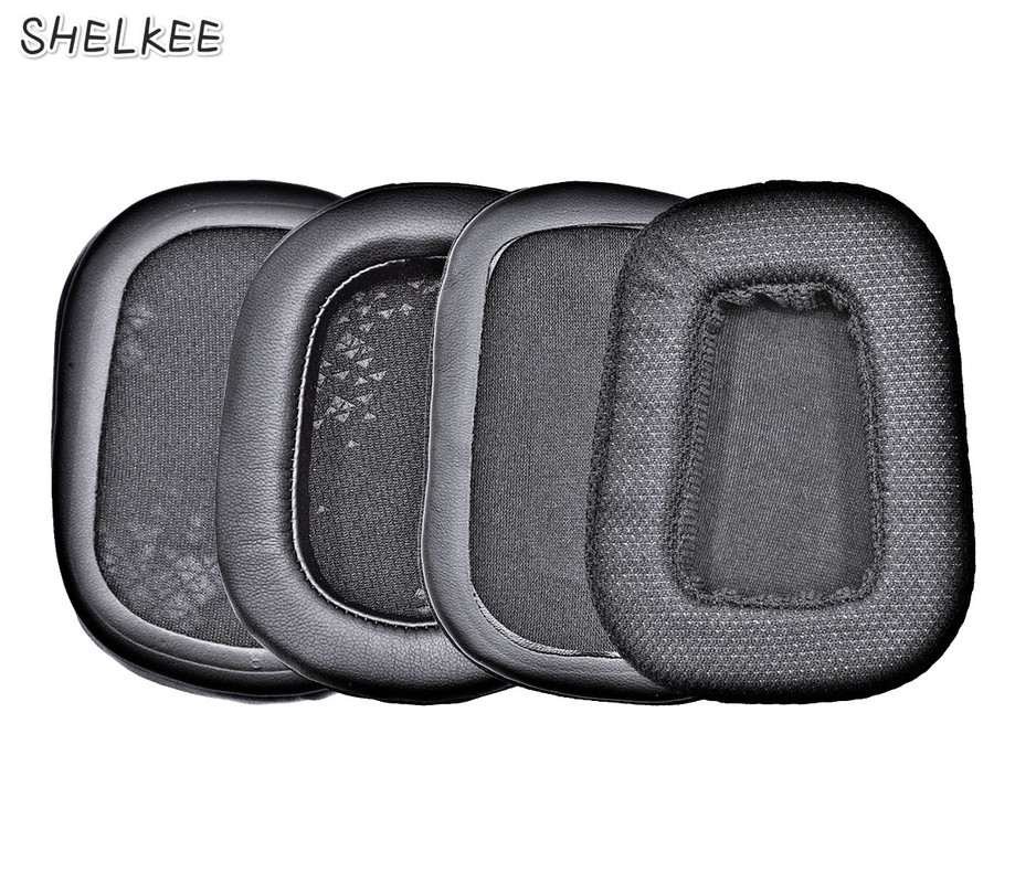 SHELKEE  Replacement Memory foam Mesh pu leather cushions Ear pads Ear Cover Repair parts for Logitech G633 G933