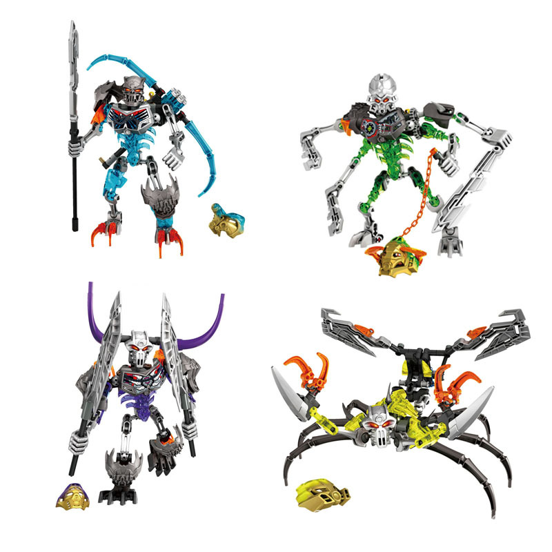 New Hot Sale Bionicle Load Of Skull Warrior XZS 710-1 Building Block Toys Action 710-1 Compatible Legoinglys Toys For Children