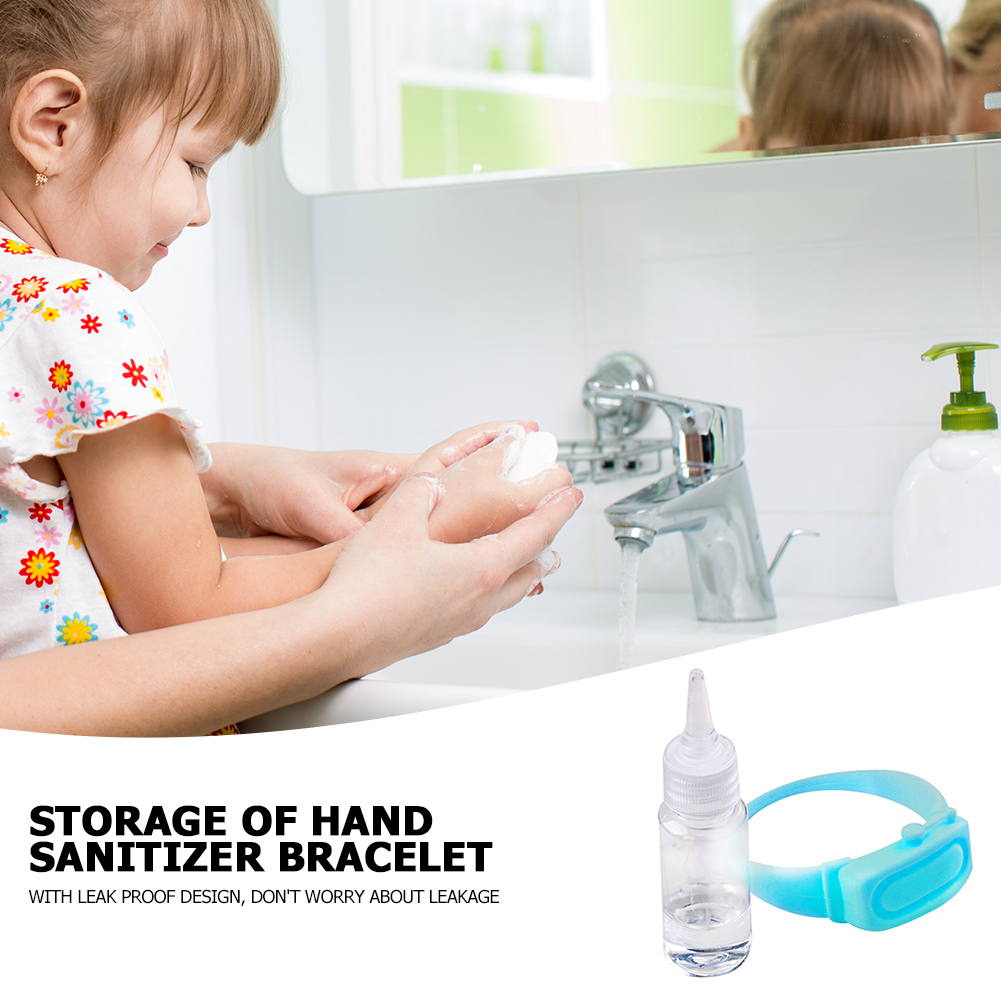Hand Sanitizer Disinfectant Sub-packing Silicone Bracelet Wristband Hand Dispenser Wearable Hand Sanitizer Dispenser Pumps