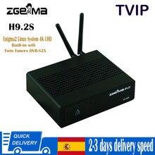 Decodificador Zgemma H9.2S HEVC H.265 4K UHD 2160P 2XDVB-S2X Enigma 2 Linux IPTV 2000 DMIP DUPLO tunner