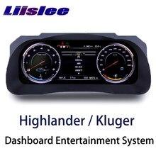 LiisLee أداة لوحة استبدال LED لوحة القيادة الترفيه نظام ذكي لتويوتا هايلاندر Kluger XU50 2013 ~ 2019