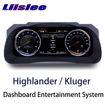 LiisLee Instrument Panel Replacement LED Dashboard Entertainment Intelligent System for Toyota Highlander Kluger XU50 2013~2019