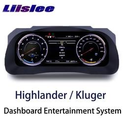 LiisLee Instrument wymiana panelu led na deskę rozdzielczą rozrywka inteligentny system dla Toyota Highlander Kluger XU50 2013 ~ 2019 w Samochodowe odtwarzacze multimedialne od Samochody i motocykle na
