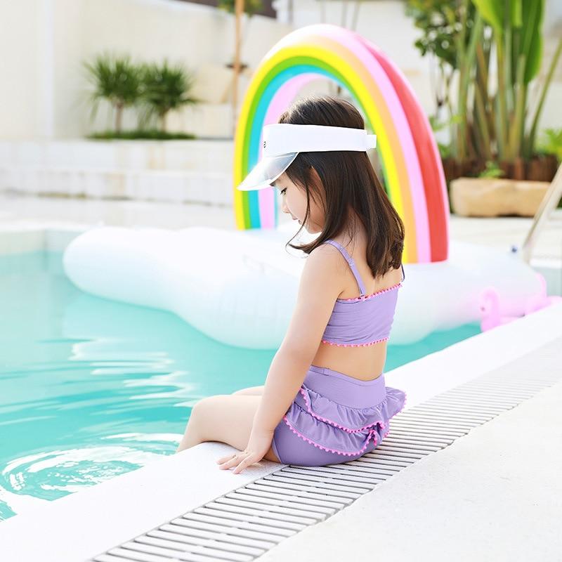 IEMOX/Iemox Bow GIRL'S Swimsuit Cute Split Type KID'S Swimwear Adjustable Shoulder Strap Triangular Bathing Suit