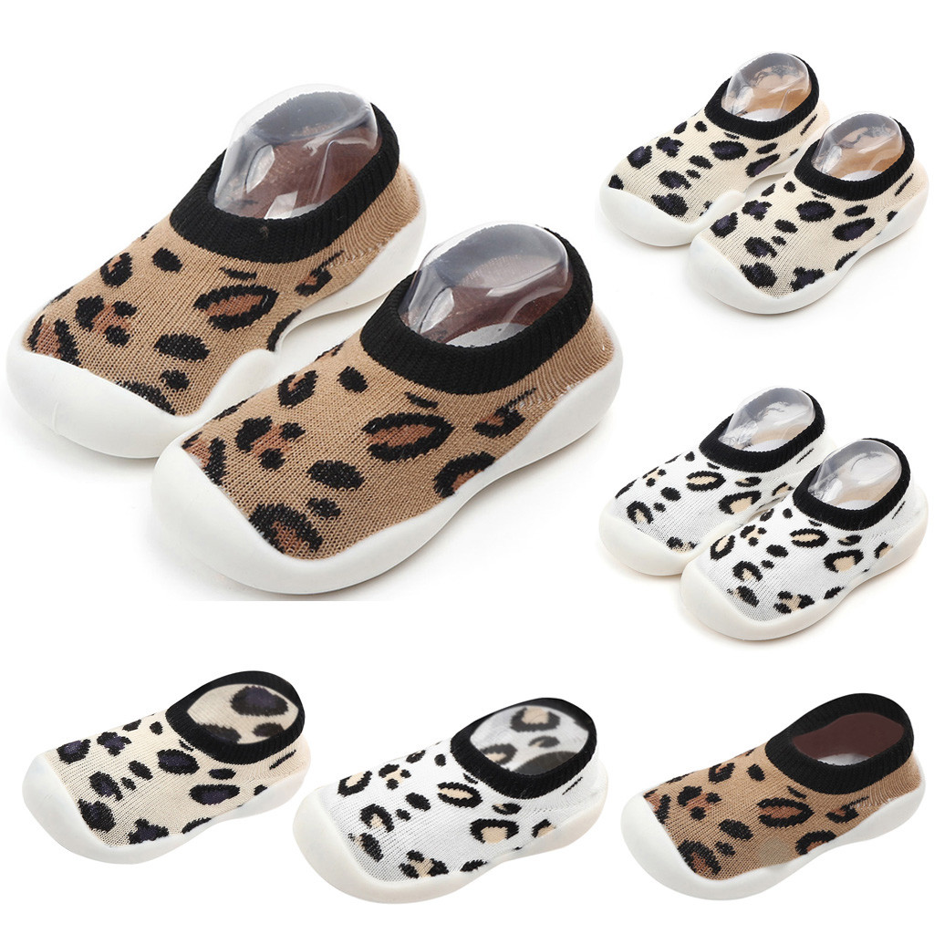 Baby Girls Boys Shoes Slip-On Comfortable Solid Fashion Leopard First Walkers Casual Kid Shoes Baby Shoes Indoor Sapato Infantil