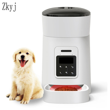 Smart Pet Feeder 4L New Pet Automatic Slow Feeder Voice Recording Timing Pet Food Dispenser LCD Screen Dog Food Bowls