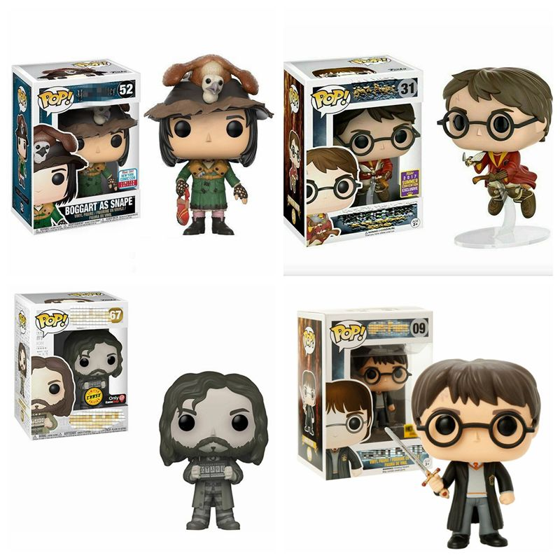 Funko POP Harri Potter On Broom BOGGART AS SNAPE Draco Malfoy Moaning Myrtle Limited Edition Vinyl Figure Model Dolls Gifts Toys