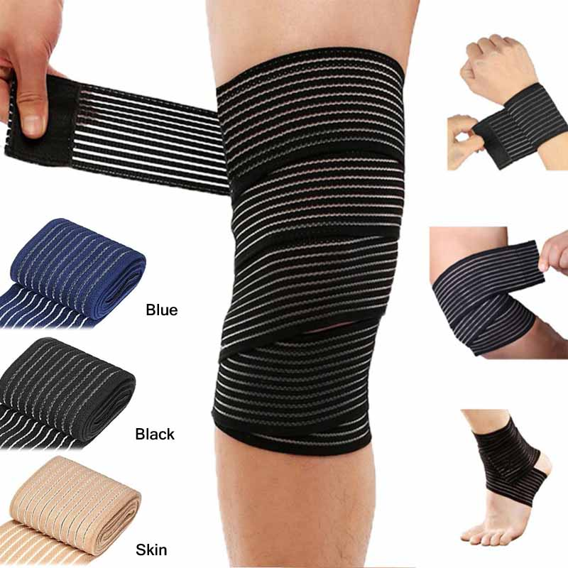 40~150cm Elastic Bandage Compression Knee Support Sports Strap Knee Protector Wristband Ankle Leg Elbow Calf Support Safety Band