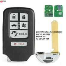 KEYECU dla Honda Clarity 2018 zamiennik inteligentny pilot z kluczykiem samochodowym 6 przycisk 433.92MHz FCC ID KR5V2X A2C98676600