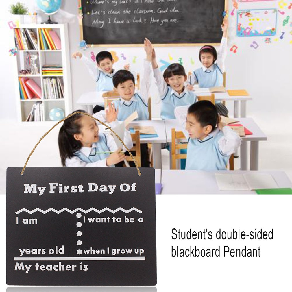 School Blackboard Student Double-Sided Blackboard Pendant Printing Board Children Room Decoration Listing Wooden Crafts