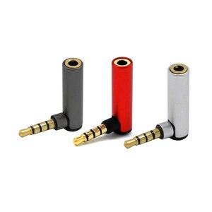 2Pc 3.5Mm Adapter Voor Stereo Hoofdtelefoon 90 Graden Elleboog 3.5Mm Man-vrouw Adapter 4 Sectie L type Audio Conversie Hoofd