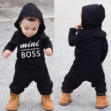 Toddler Kids Baby Letter Boys Girls Hoodie Outfits Clothes Romper Jumpsuit Winter Autumn Long Sleeve Hoodies