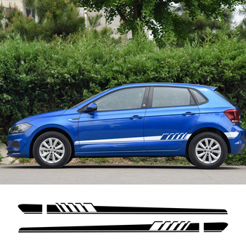 For Volkswagen Polo golf 4 6 7 Passat b4 b5 b6 b8 Touareg Car Side Stickers Auto Vinyl Film Decal Styling Car Tuning Accessories