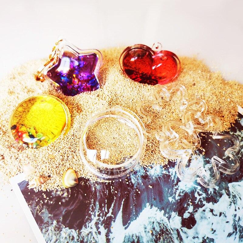 Stampo Quicksand moon star heart fai da te epossidico fatto a mano cristallo acrilico stampo portachiavi materiale per fare gioielli