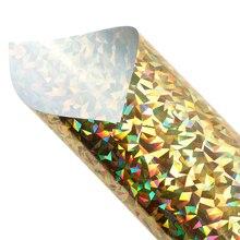 Garment-Film Heat-Transfer Fabric Vinyl for DIY 1yc12119 HTV Iron-On Laser-Broken-Glass