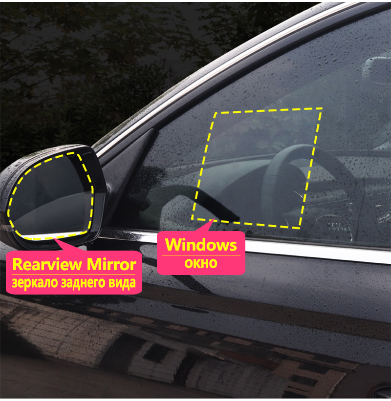 For Ford Ranger T6 2011 2019 Full Cover Anti Fog Film Rearview Mirror Anti fog Films Accessories Raptor 2012 2014 2016 2017 2018 in Car Stickers from Automobiles Motorcycles