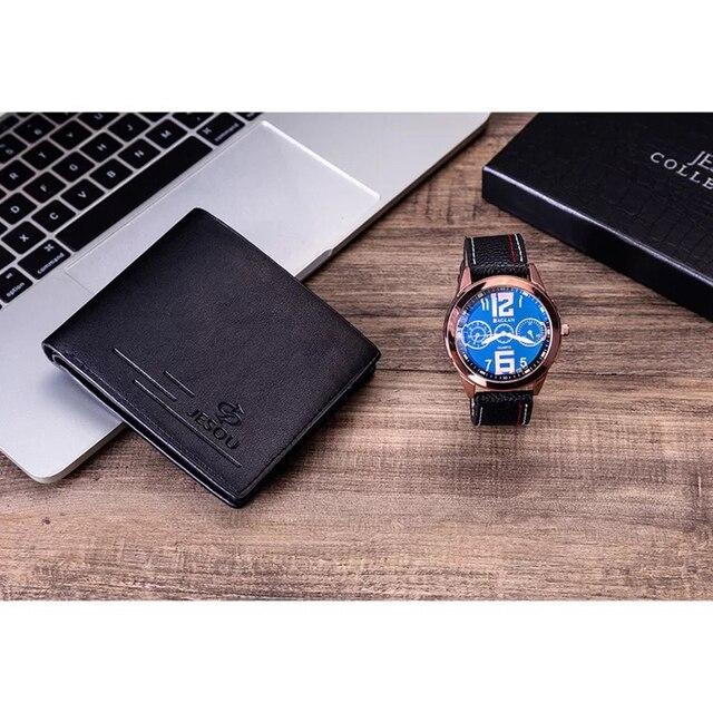 Men Watches Leather Belt Quartz Wrist Watch  3