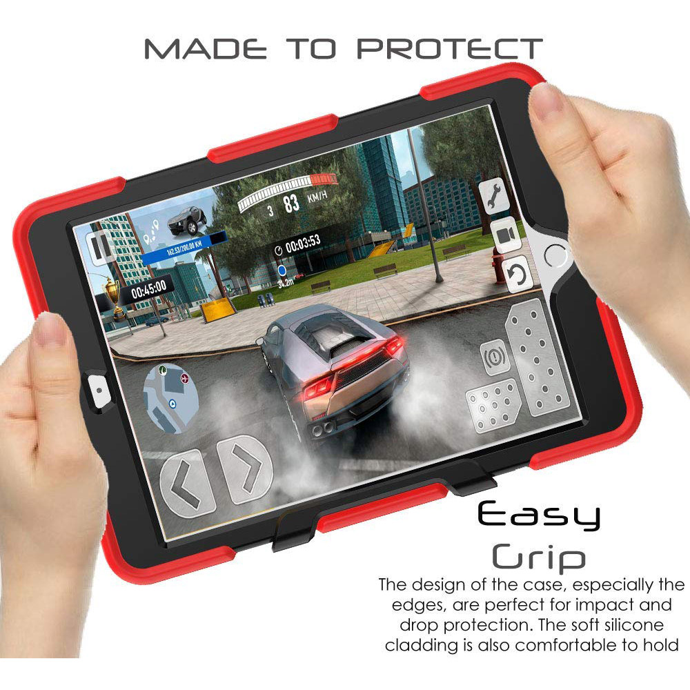 Case iPad 10.2 Silicone Heavy Shockproof Kickstand Case Duty PC Kids For Rugged Armor