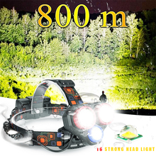 60000LM Bright Headlamp Rechargeable Headlight Powerful T6 +COB Head Light 4 Modes Waterproof Lamp Front