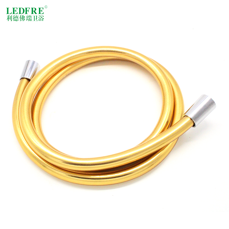 LF12004 G1/2*G1/2 Flexible Shower Hose/High Quality PVC lIGHT GOLD SHOWER HOSE