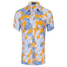купить Summer Mens Short Sleeve Beach Hawaiian Shirts Casual Flower Floral Shirts Plus US Size XXL 2019 New Mens Clothing Fashion дешево