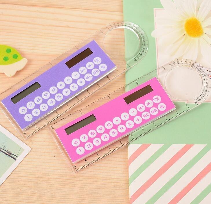 Mini Calculator Ruler Fashion Multifunction 10cm Ultra-thin Ruler Gift Hesap Makinesi Calculadora Office Supplies