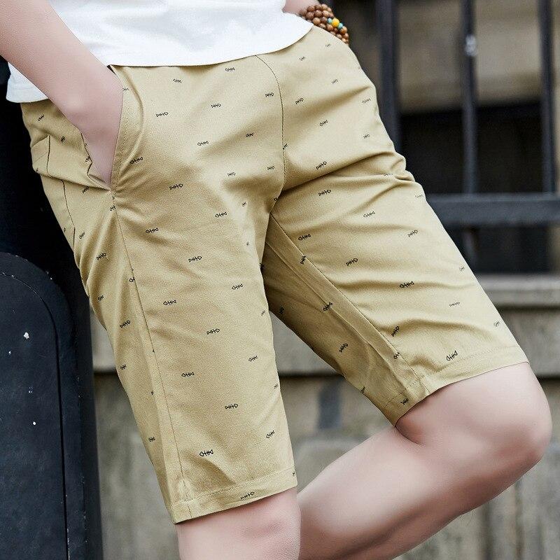 Men's Summer Fish Bone Printed Shorts Teenager Casual Beach Shorts Teenager Fashion Outdoor Shorts