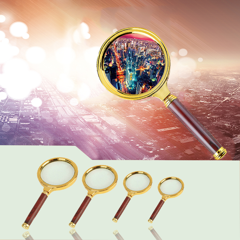 10X Magnifying Glass Handheld 60mm/70mm/80mm/90mm  Loupe Portable Magnifier For Jewelry Newspaper Reading