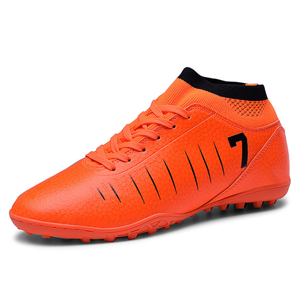 TaoBo 2019 Women Men Football High Top Sneakers Soccer Cleats Boots Long Spikes TF Spikes  Soft Indoor Turf Futsal Child|Soccer Shoes|Sports & Entertainment - title=