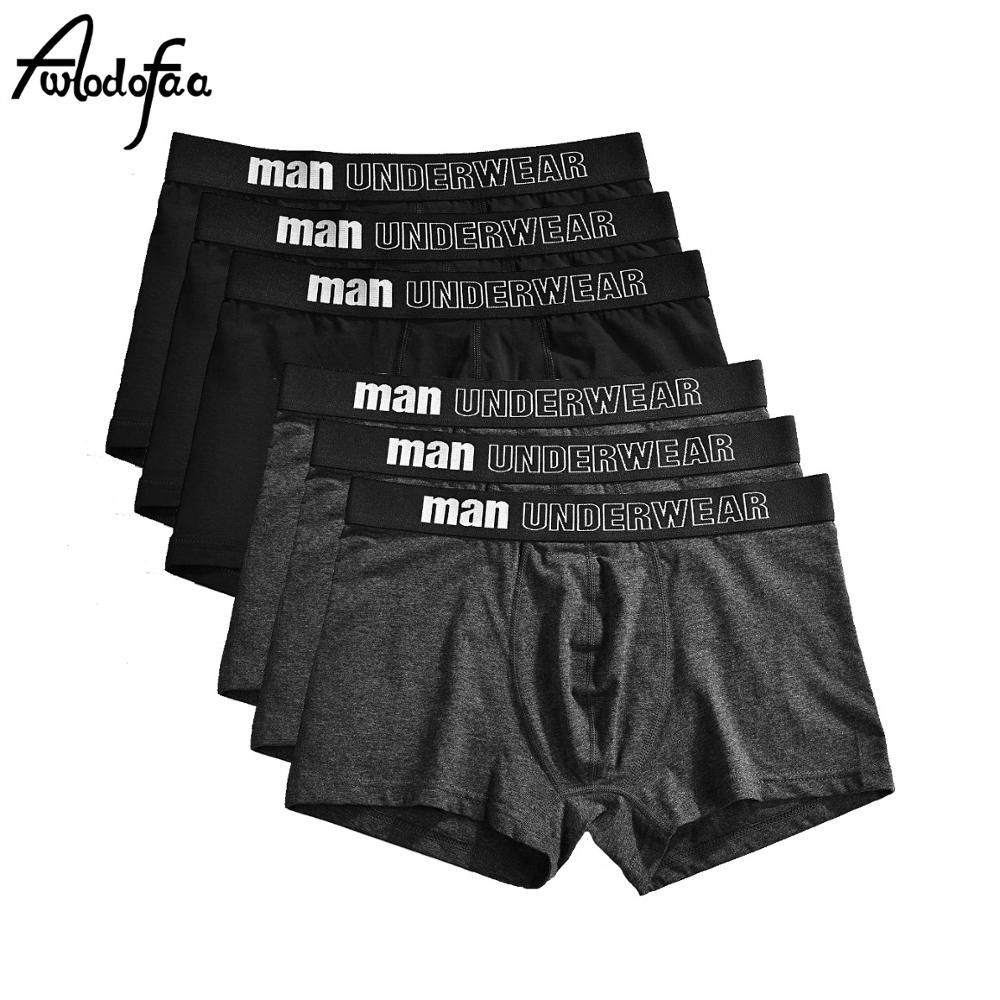 6Pcs/lot Hot Man Short Breathable Flexible Comfortable Shorts Boxers Lovely Solid Panties Male Boxer Soft Undershorts Men Boxers
