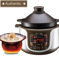 220V,3L Smart Electric Slow Cooker Rice Cooker Ceramics Stew Soup Porridge Health Timer Control Baby Food Purple casserole