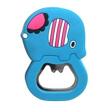 Creative Silicone Bottle Opener Cute Cartoon Beer Stainless Steel Plastic