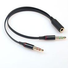 Y-Splitter 1 Female to 2 Male 3.5mm Stereo Audio Adapter Audio Cable For PC/Laptop connection 3.5mm stereo headphone With Mic(China)