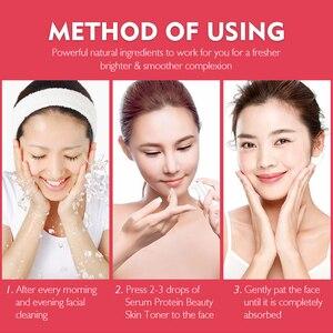 Image 5 - Canlı GLAMOUR Serum proteini kırışıklık karşıtı yüz serumu kollajen beyazlatma nemlendirici özü Anti alerji maskesi Toner gözenek küçültmek