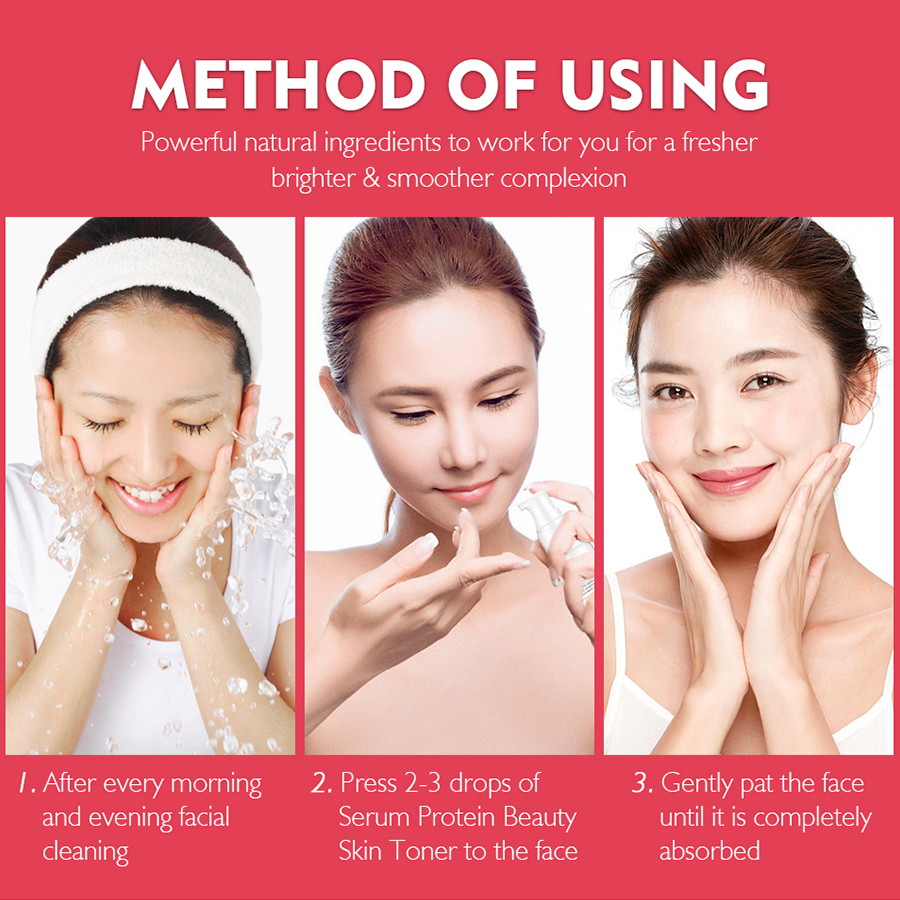 Image 5 - VIBRANT GLAMOUR Serum Protein Anti Wrinkle Face Serum Collagen Whitening Moisturizer Essence Anti allergy Mask Toner Shrink Pore-in Serum from Beauty & Health