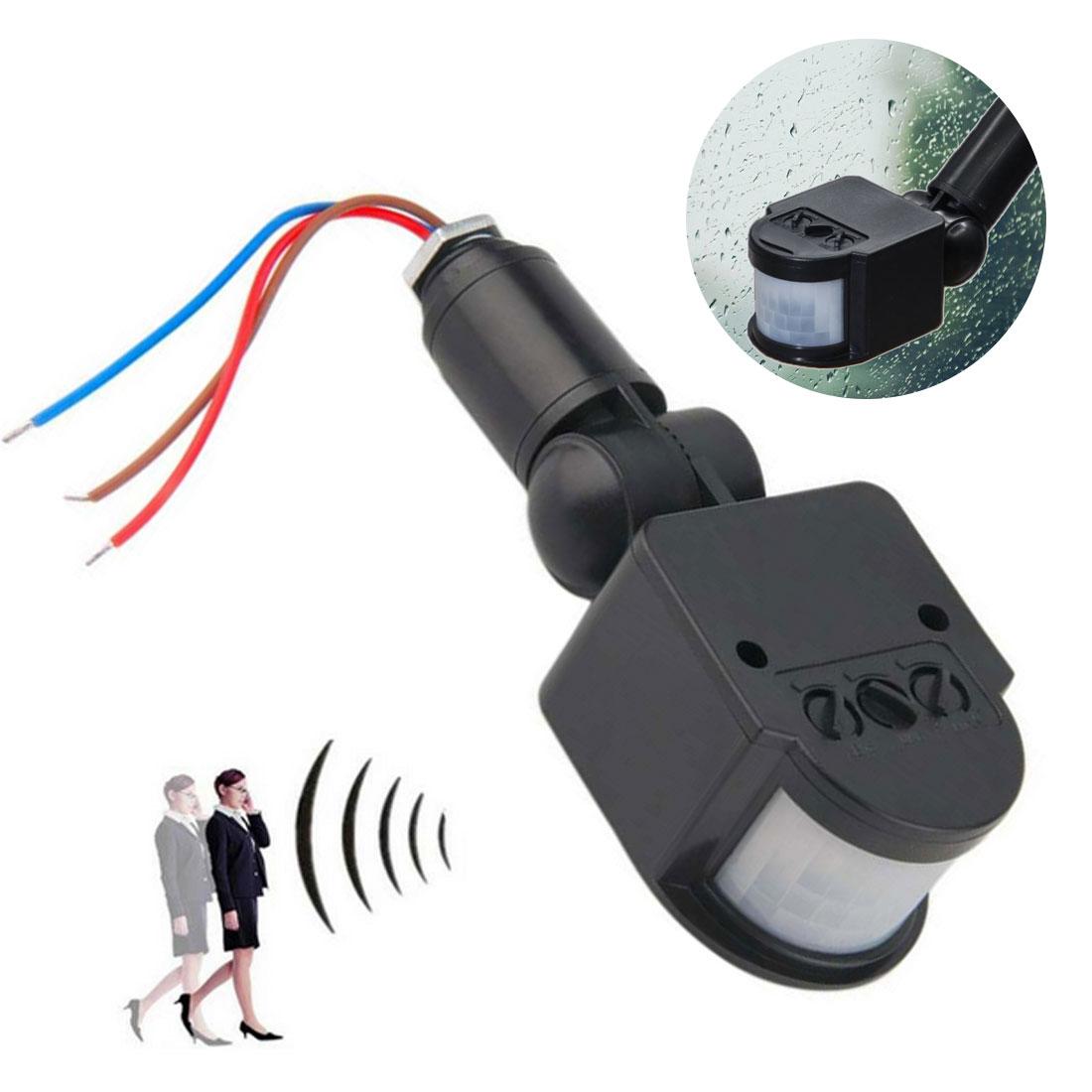 Infrared Body Sensor LED Motion Sensor Automatic Infrared PIR Movement Detector Light-Switch Outdoor Wall Mount Sensor