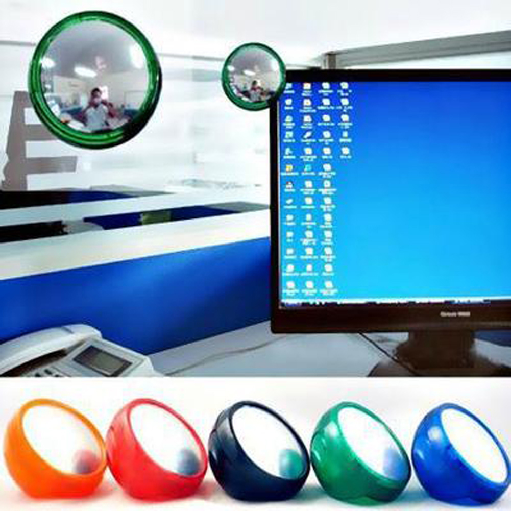 Creative Computer Monitor Computer Rearview Mirror Field Of Vision Magnifying Office Essential Stationery Set Color Random