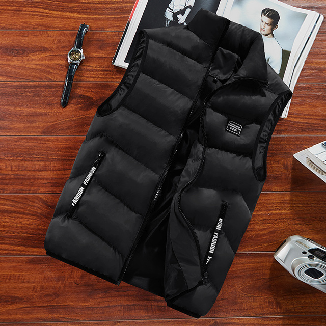 Fashion Mens Jacket Sleeveless Vest Spring Thermal Soft Vests Casual Coats Male Cotton Men's Vest Men Thicken Waistcoat 8XL 2