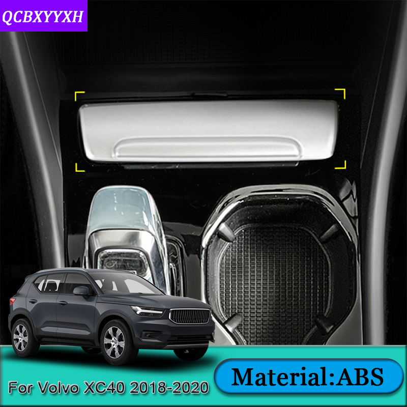 Car Styling For Volvo XC40 2018 2020 Car Interior Ashtray Panel Switch Panel Covers Trim Sequins Auto Sticker Car Accessories|Automotive Interior Stickers| |  - title=